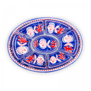 7 pieces of hors-d'oeuvre plate with tray