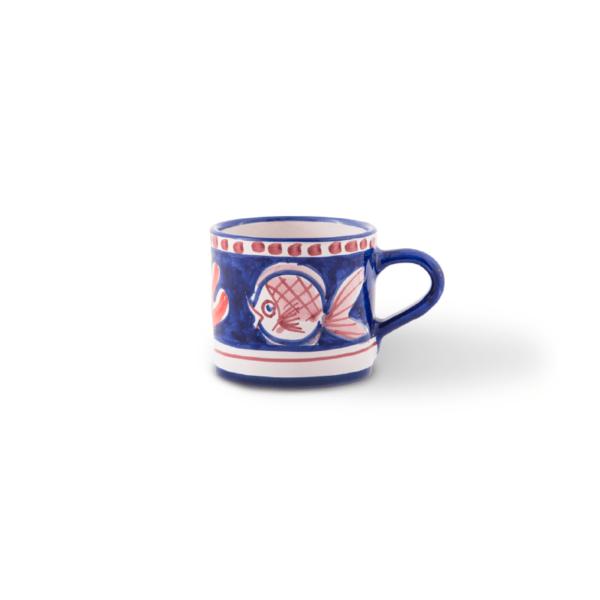 Bicchiere piccolo in ceramica dipinto a mano