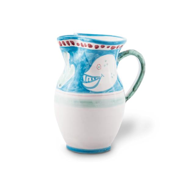 Brocca media in ceramica dipinta a mano