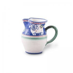 Brocca piccola in ceramica dipinta a mano
