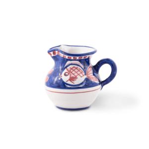 Lattiera in ceramica dipinta a mano