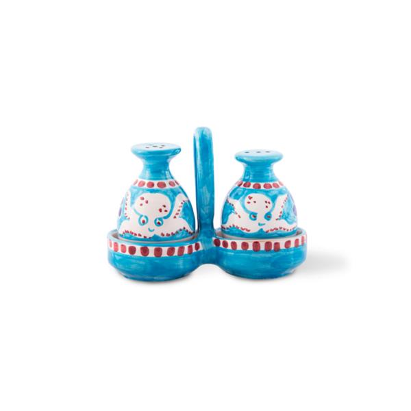 Sale e pepe in ceramica dipinti a mano