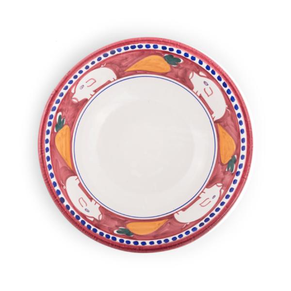 Spaghettata in ceramica dipinta a mano