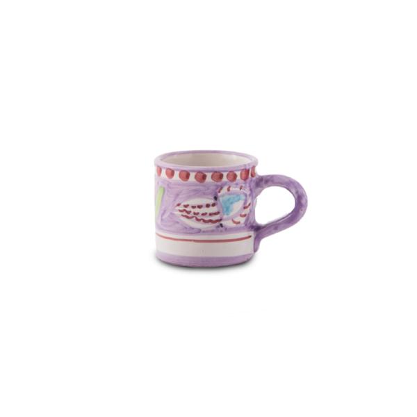 Tazzina caffè in ceramica dipinta a mano