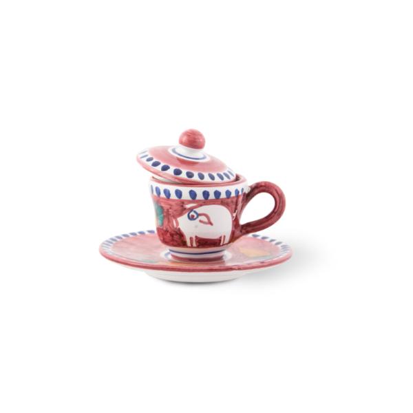 Coffee cup with saucer| Ceramica Assunta Positano