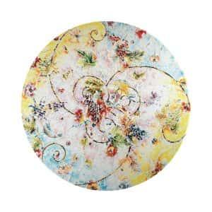 Tavola pietra dipinta a mano