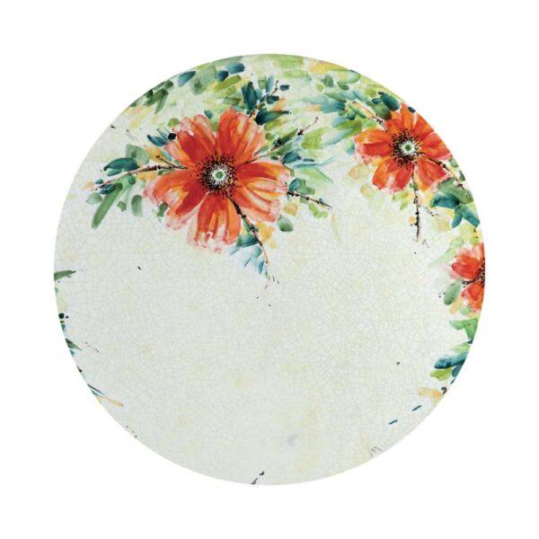 Tavolo in pietra dipinto a mano