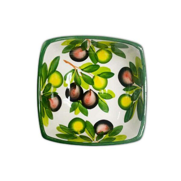 Ciotola Quadrata Olive 14x14 cm