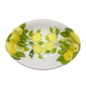 Ovale Fondo Limoni 38x25 cm | Ceramica Assunta