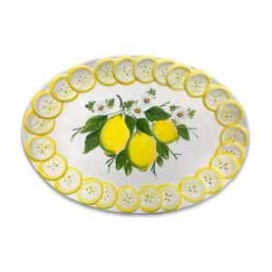 Ovale Fette Limone 48x33 cm | Ceramica Assunta