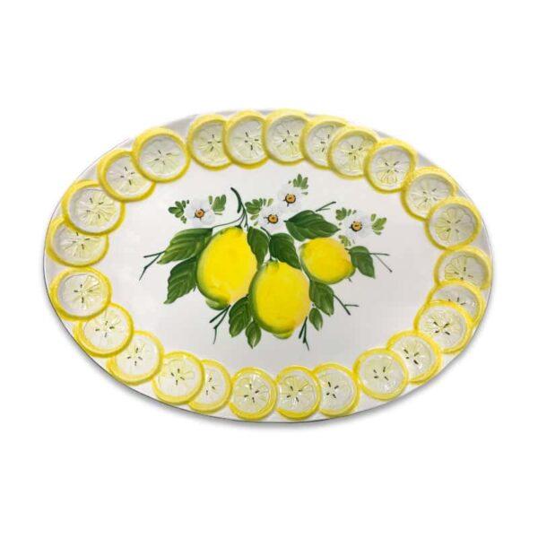Ovale Fette Limone 48x33 cm   Ceramica Assunta