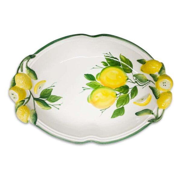 Ovale Fondo Limoni 40x30 cm