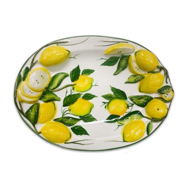 Ovale Fondo Limoni 36x26 cm