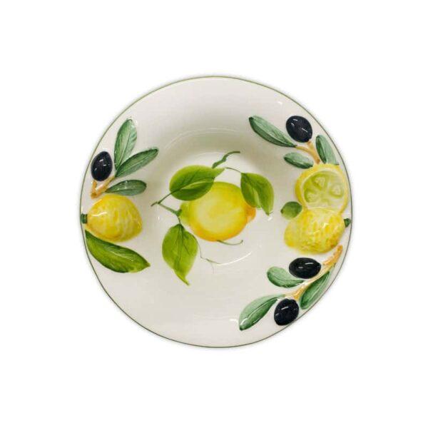 Ciotolina Limoni e Olive 14 cm