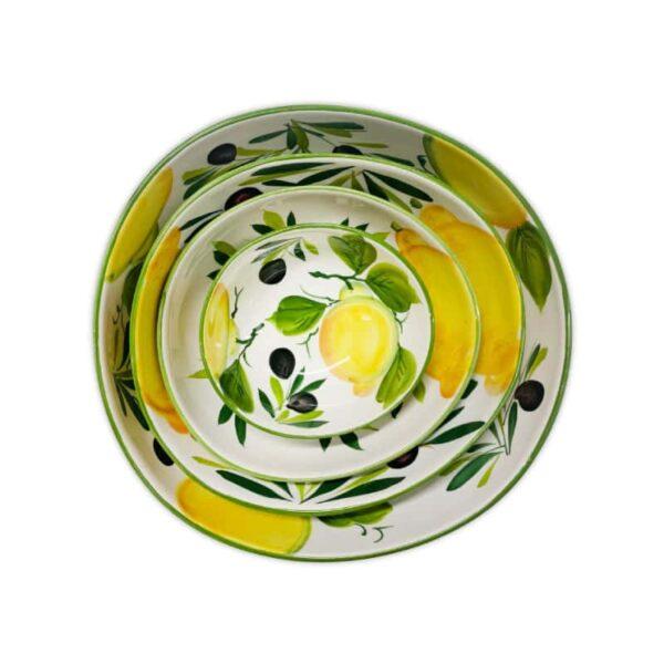 Set 4 Ciotole Giada Limoni e Olive