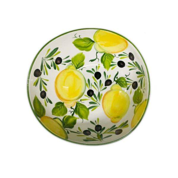Ciotola Giada Limoni e Olive 30 cm