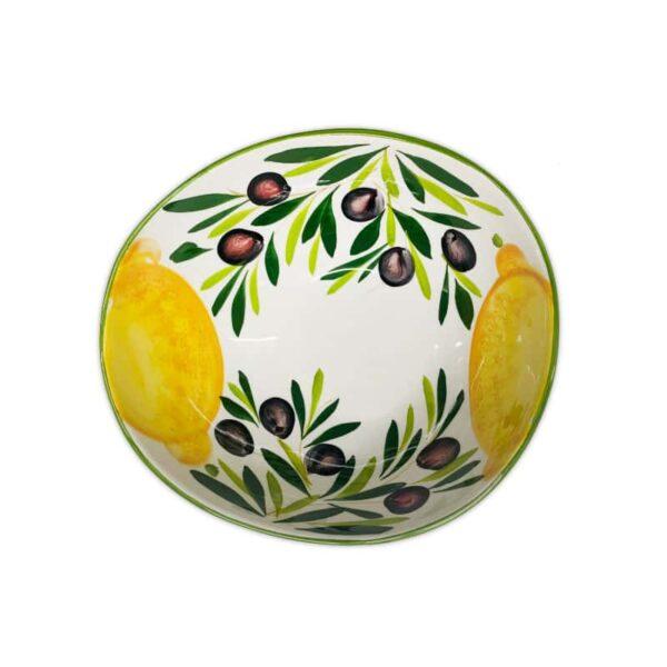 Ciotola Giada Limoni e Olive 25 cm
