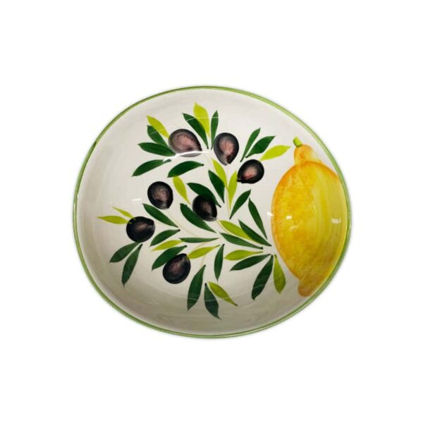 Ciotola Giada Limoni e Olive 20 cm