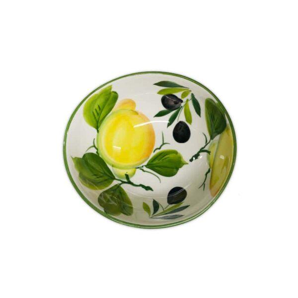 Ciotola Giada Limoni e Olive 16 cm