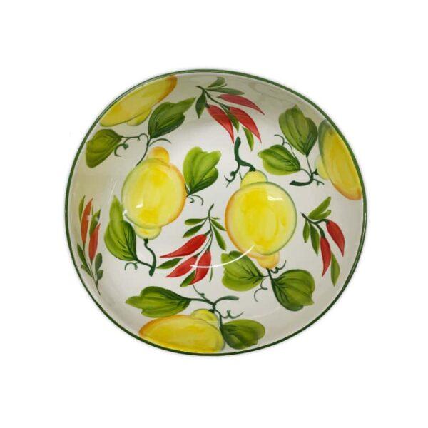 Ciotola Giada Limoni e Peperoncini 30 cm