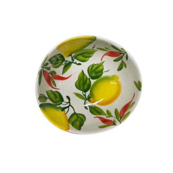 Ciotola Giada Limoni e Peperoncini 20 cm