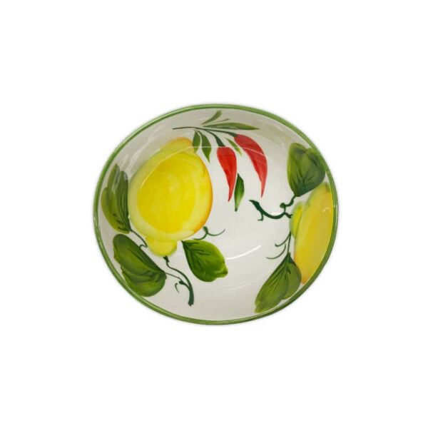 Ciotola Giada Limoni e Peperoncini 16 cm