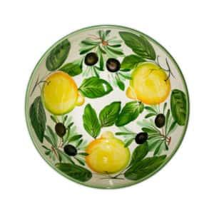 Insalatiera Limoni e Olive 30x13 cm