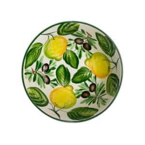 Insalatiera Limoni e Olive 27x13 cm