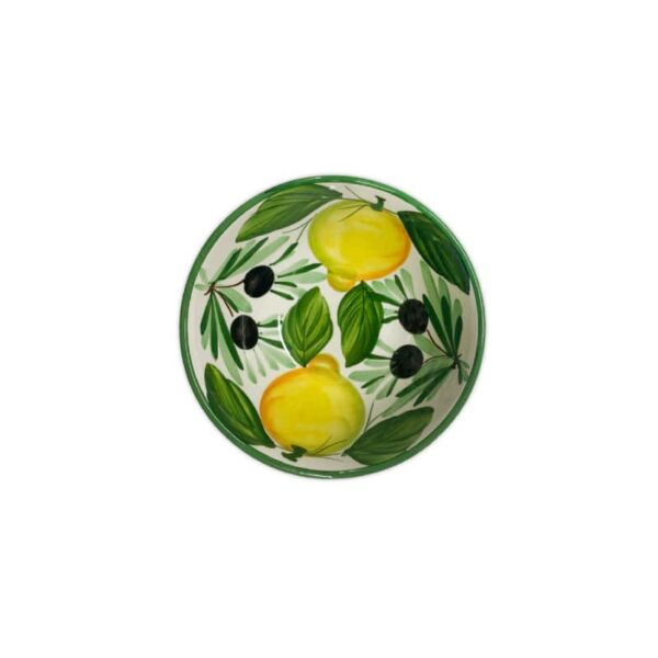 Insalatiera Limoni e Olive 17x8 cm