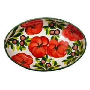 Ovale Fondo Peperoni 38 cm | Ceramica Assunta Positano