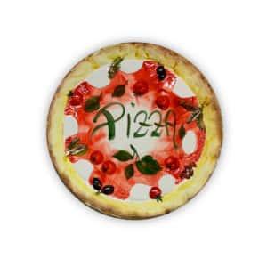 Piatto PIZZA medio in ceramica dipinta a mano | Ceramica Assunta Positano
