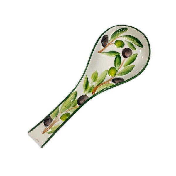 Poggiamestolo Decoro Olive | Ceramica Assunta Positano