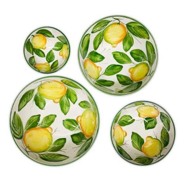 Set 4 Ciotole Lisce Lemon Collection