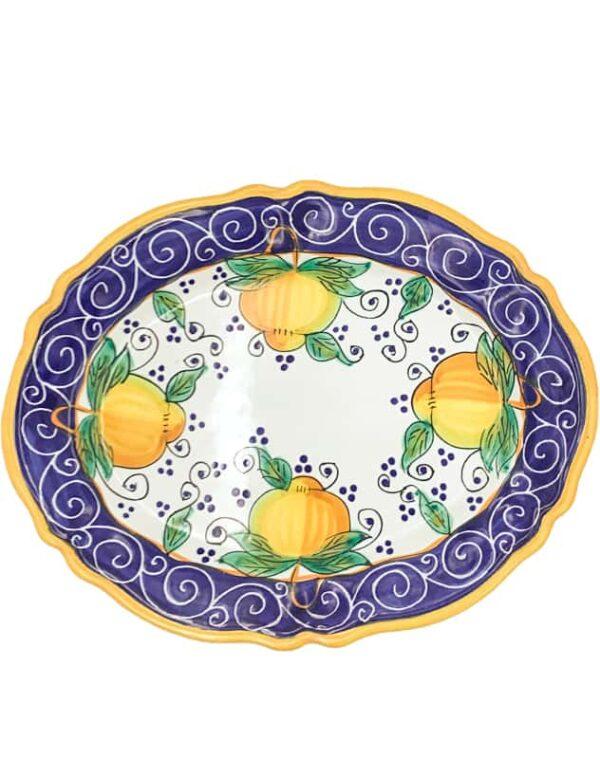 Piatto ovale limone faenza