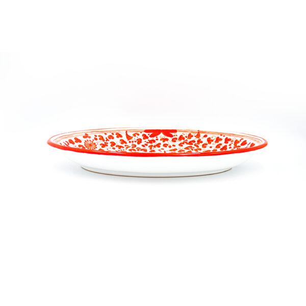 Piatto ovale fondo cm 43x26 rosso