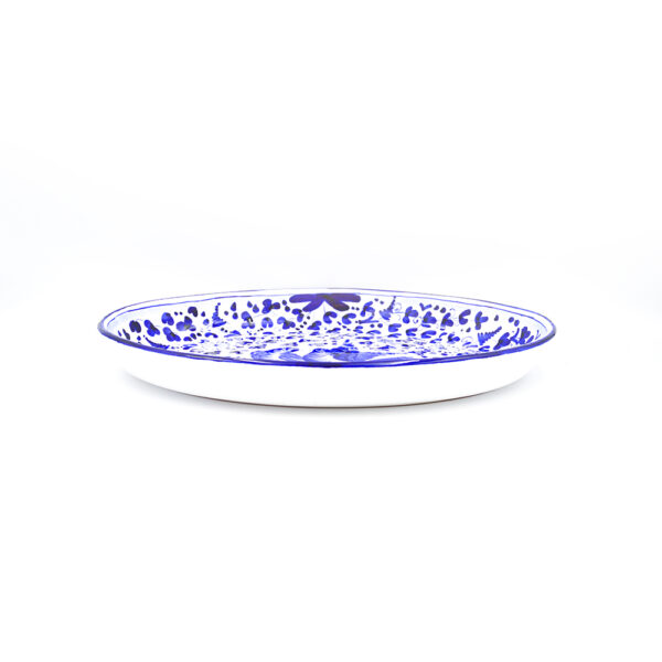 Piatto ovale fondo cm 44x28 blu