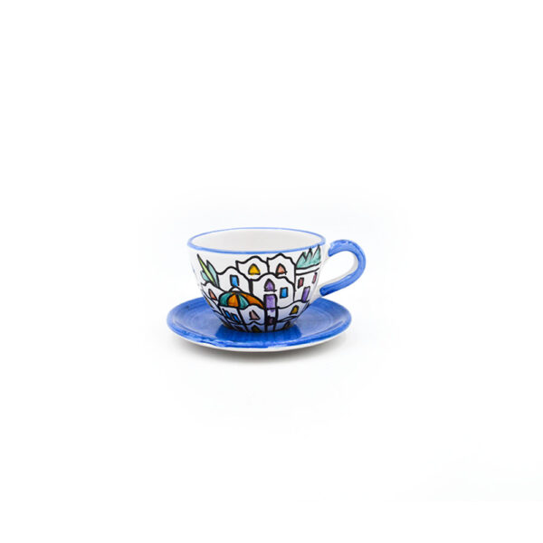 Tazza da tè con piattino dedalus