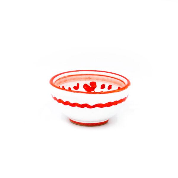 Ciotolina cm 7 arabesco rosso 2