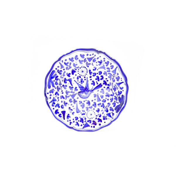 Piatto piano cm 28 arabesco blu