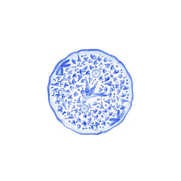Piatto piano cm 28 arabesco turchese