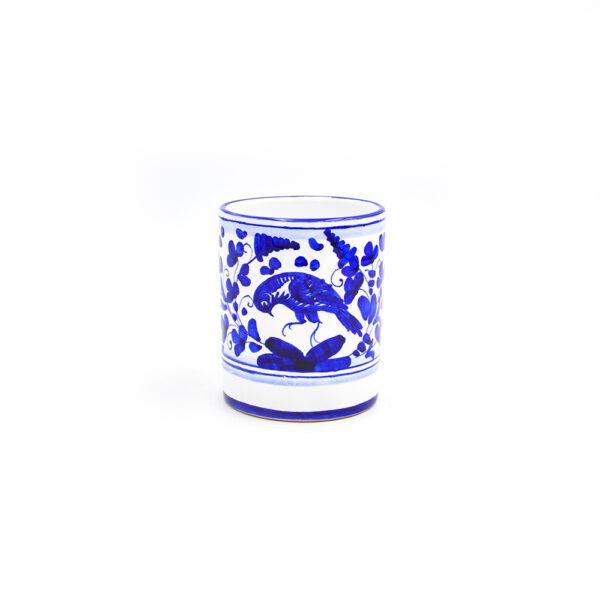 Bicchiere con manico cm 11 arabesco blu