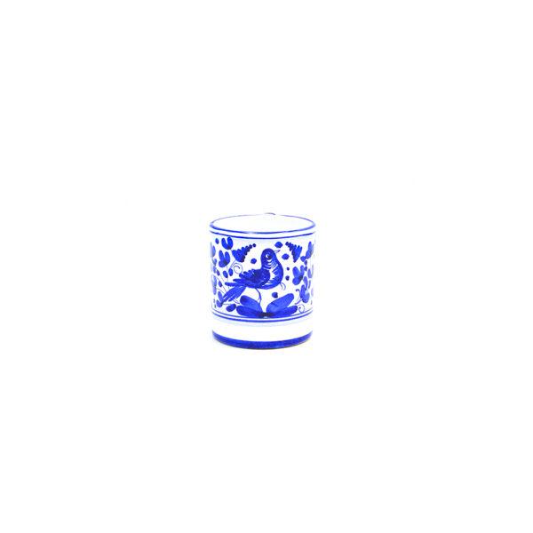Bicchiere con manico cm 9 arabesco blu