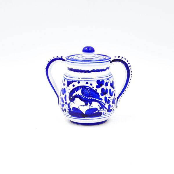 Zuccheriera arabesco blu