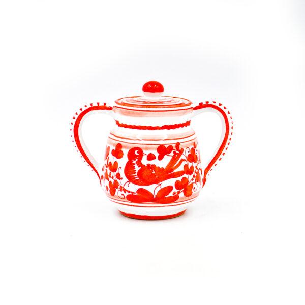 Zuccheriera arabesco rosso