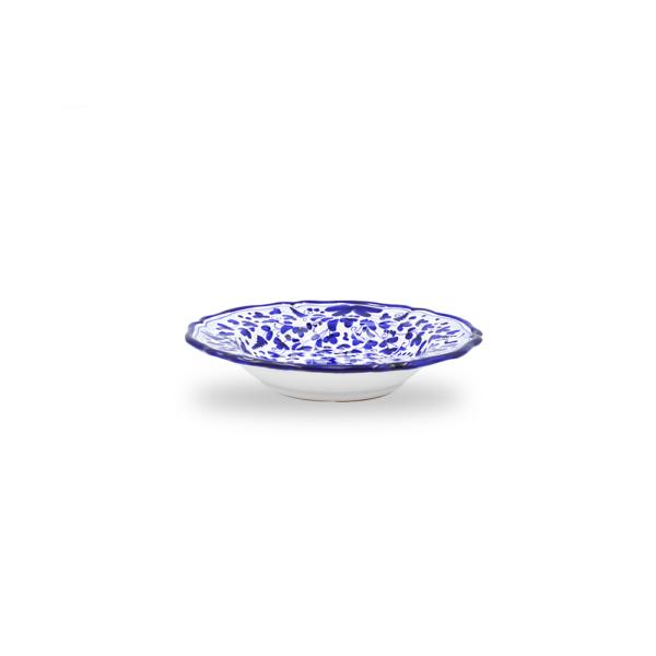 Piatto fondo cm 25 arabesco blu 2