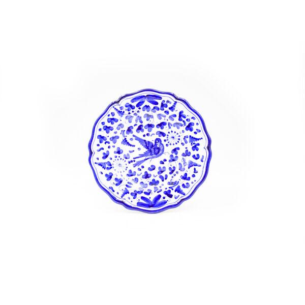 Piatto frutta cm 21 arabesco blu