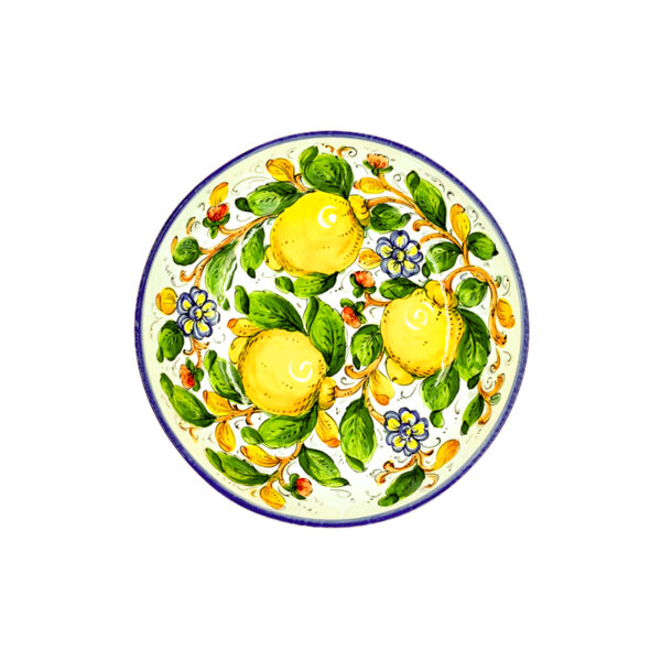 Insalatiera liscia limone blu