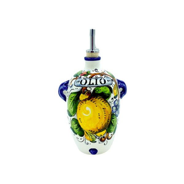 Oliera panciuta limone blu