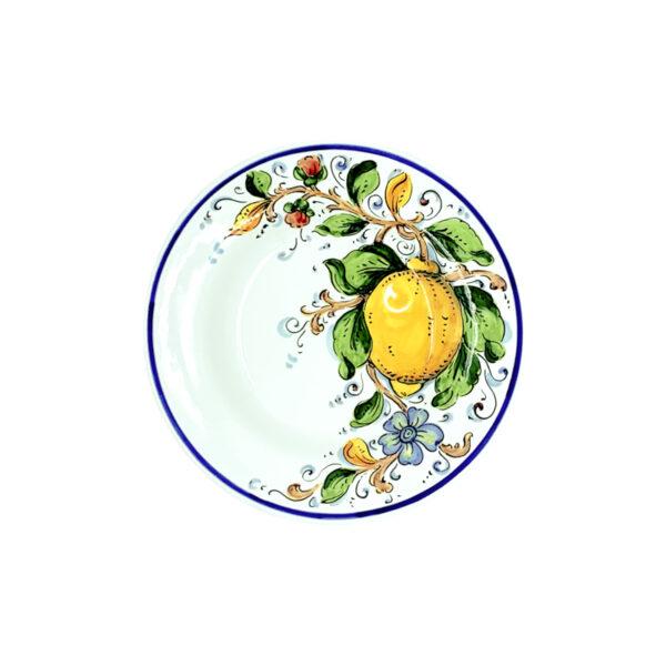 Piatto fondo limone blu