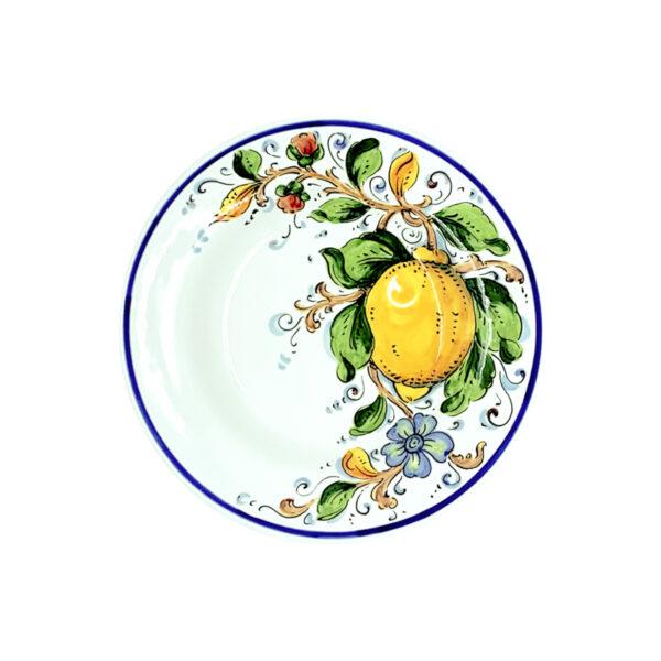 Piatto piano limone blu